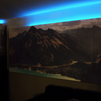 Daniel - Sound absorbers with LED ambient lighting.