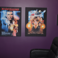 Christopher: Home Cinema sound absorbers with movie images